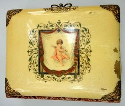antique CELLULOID ANGEL BABY ALBUM 45 PHOTOS infant baby children people - $124.95