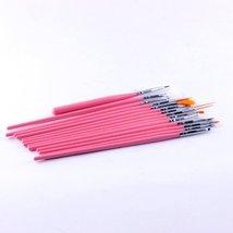 15pcs Pink Nail Art Painting Brush Nail Paint Design Pen Tools Paint Dot... - €2,12 EUR
