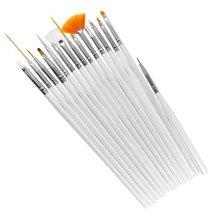 15Pcs Nail Art Tools Paint Dot Draw Pen Line Brush Detailing Set UV Gel ... - €2,64 EUR