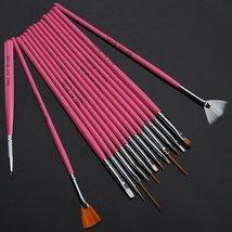 15pc Nail Art Design Dotting Brush Painting Pen Tool Set Pink Stick DIY ... - €2,64 EUR