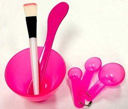 4 in 1 Facial Beauty Accessory Measuring Spoon Mask Mixing Stick Bowl Br... - €2,98 EUR