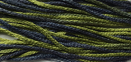 Graveyard Moss 6 strand hand dyed embroidery floss 5yd skein Ship's Manor  - $2.00