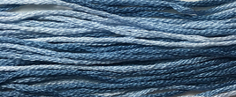 Something Blue 6 strand hand dyed embroidery floss 5yd skein Ship's Manor  - $2.00