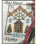 Home 5 FLOSS + FREE CHART cross stitch Ship's Manor  - $10.00