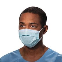 Kimberly-Clark Tecnol Procedure Mask/Pleat/Earloops, Blue, 50 Count - $5.98