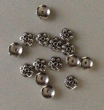 (6) NEW 925 STERLING SILVER BALI BEADS CAPS METAL - $8.91