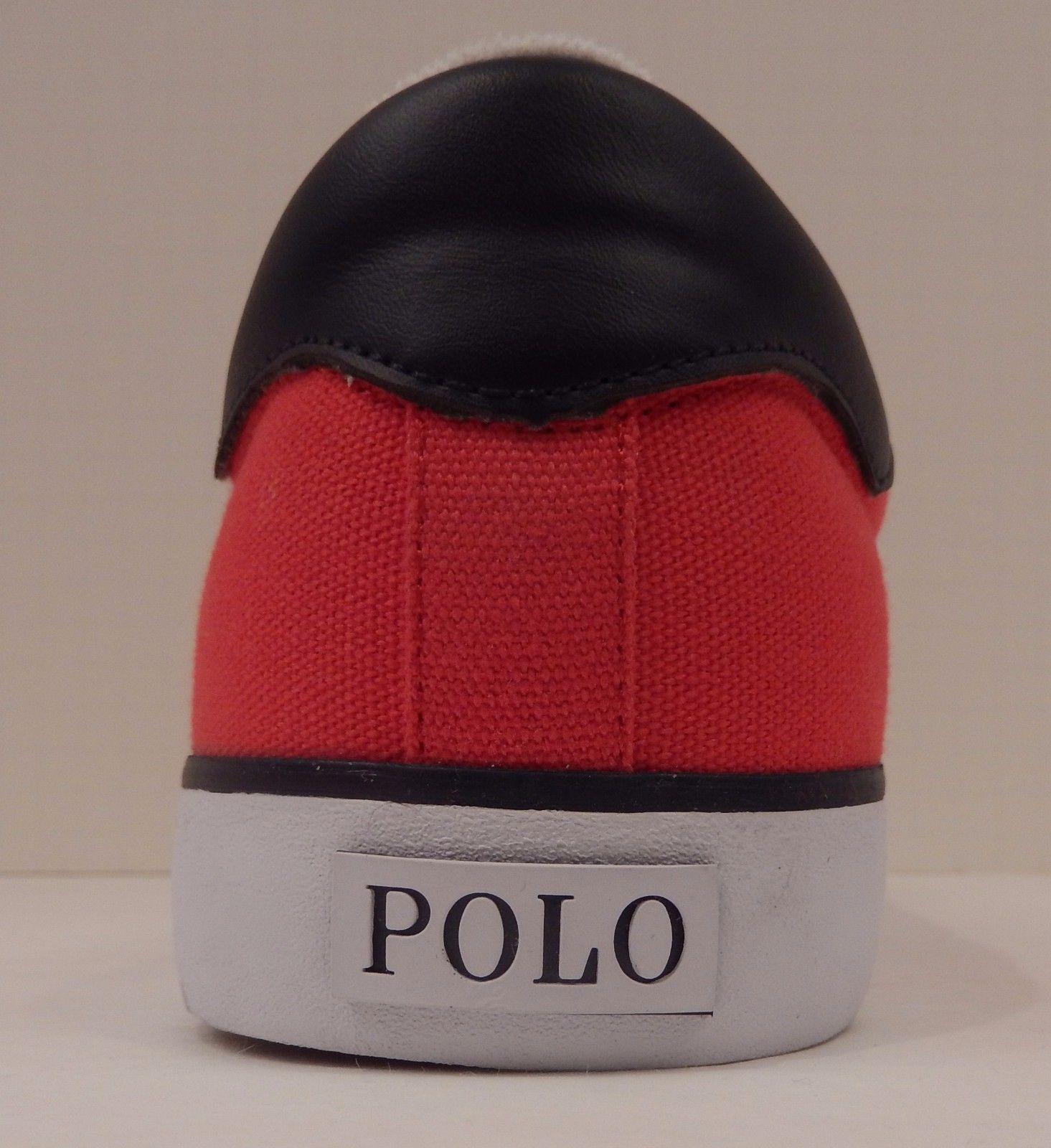 GENUINE POLO RALPH LAUREN MENS SIZE 12 D RED  BLACK FASHION SNEAKER SHOE BURWOOD