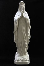 "25"" Our Lady of Lourdes Blessed Virgin Mary Statue Sculpture Made in Italy - $119.95"