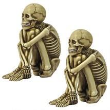 Set of 2: Bag-o-Bones Human Skeleton Window Shelf Desk Home Decor Sitter... - £26.12 GBP