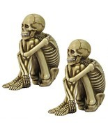 Set of 2: Bag-o-Bones Human Skeleton Window Shelf Desk Home Decor Sitter... - $43.22 CAD
