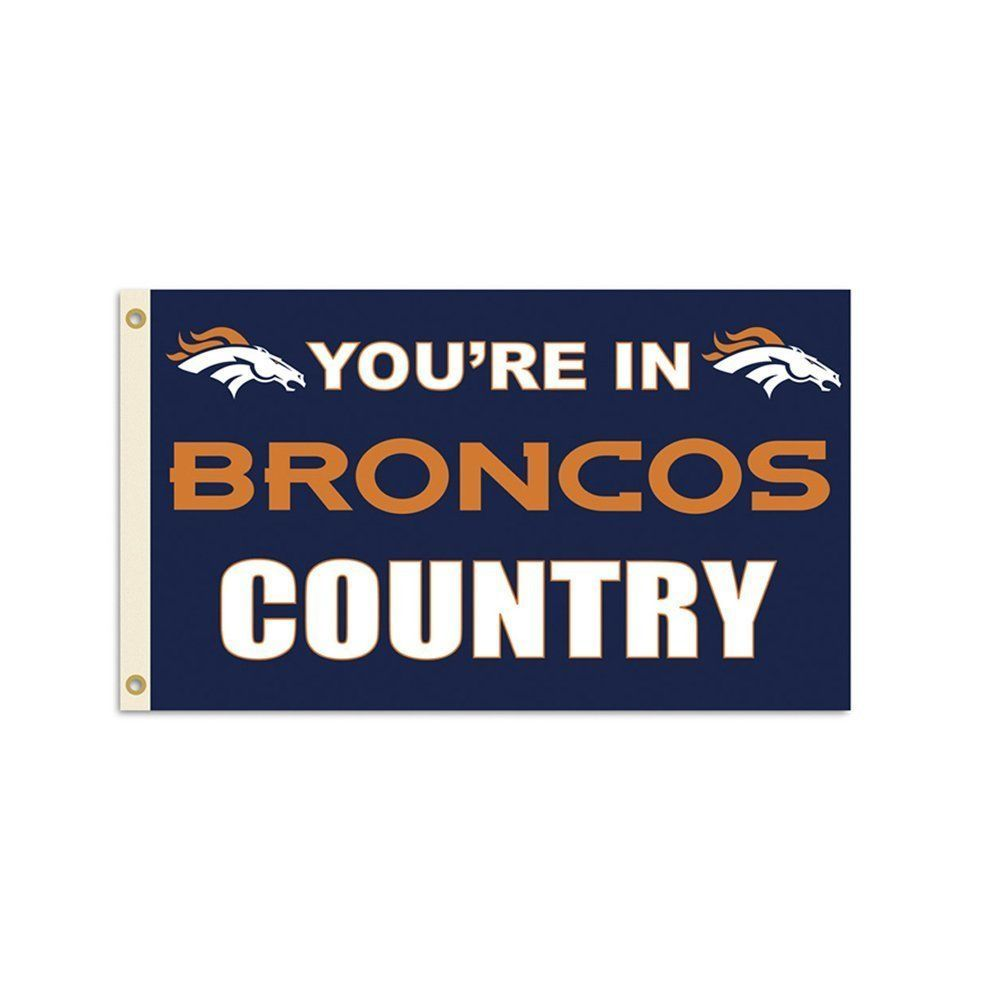 *BIG* DENVER BRONCOS 3' X 5' * COUNTRY * FLAG WALL BANNER NFL FOOTBALL