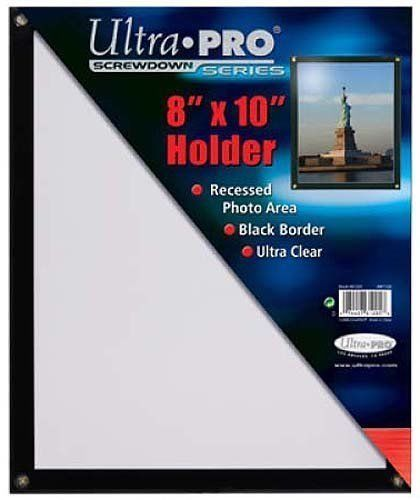 "8"" x 10"" BLACK BORDER FRAME SCREWDOWN ULTRA CLEAR HOLDER by ULTRA PRO"