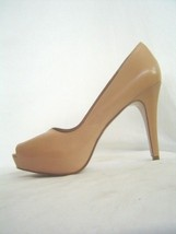 New NINE WEST Beige BONFIRE Leather Pumps 8.5 9.5 10 Shoes Neu Braun Schuhe - $89.99