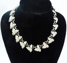 Vintage necklace leafs links - $46.52