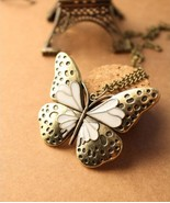 Vintage Butterfly Pendant Necklace - $6.99