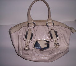 Guess Corissa Beige Leather Purse Handbag Pre-Owned Good Condition!  - $34.95