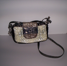 Guess Gray Croc Embossed Purse Small Shoulder B... - $24.95