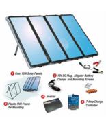 60 watt solar panel charging kit charge controller 200w inverter thumbtall