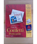 Avery Personal Creations Ink Jet Confetti Heavyweight Postcards 4-1/4X5-... - $9.80