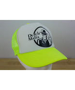 DUTCH BROTHERS COFFEE LOGO TRUCKER HAT CAP SNAP BACK NEON YELLOW WHITE - $14.10