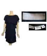 Vintage Kenneth Bonavitacola Black Tiered Silk Dress 4 - $155.00