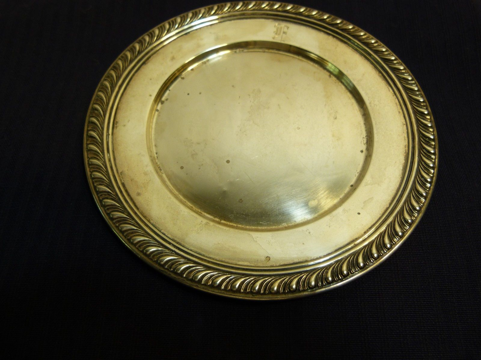 "Primary image for Manchester Silver Co. Antique Sterling Silver Bread Plate 70 Grams ""F"" Monogram"