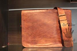 """15"""" Mens Brown messenger leather bag satchel crossbody laptop briefcase Shoulder - $70.92"""