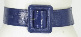 Longchamp Paris blue patent leather belt adjustable - $49.99