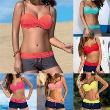 Women's Fashion Swimwear Padded Tankini Set Sporty with Boy Shorts Bikini Swimsu image 10