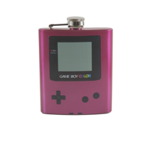 Gameboy Color - Pink Custom Flask Canteen Collectible Gift Video Games Nintendo - $25.00