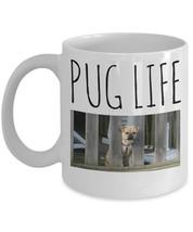 """Pug Mug """"Funny Pug Coffee Mug Pug Life"""" This Pug on a Mug Makes A Great ... - $14.95"""