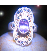 OFFER ONLY HAUNTED RING OOAK GOWN OF STARS ANTI AGE MAGICK 925 7 SCHOLAR CASSIA4 - $33,007.77