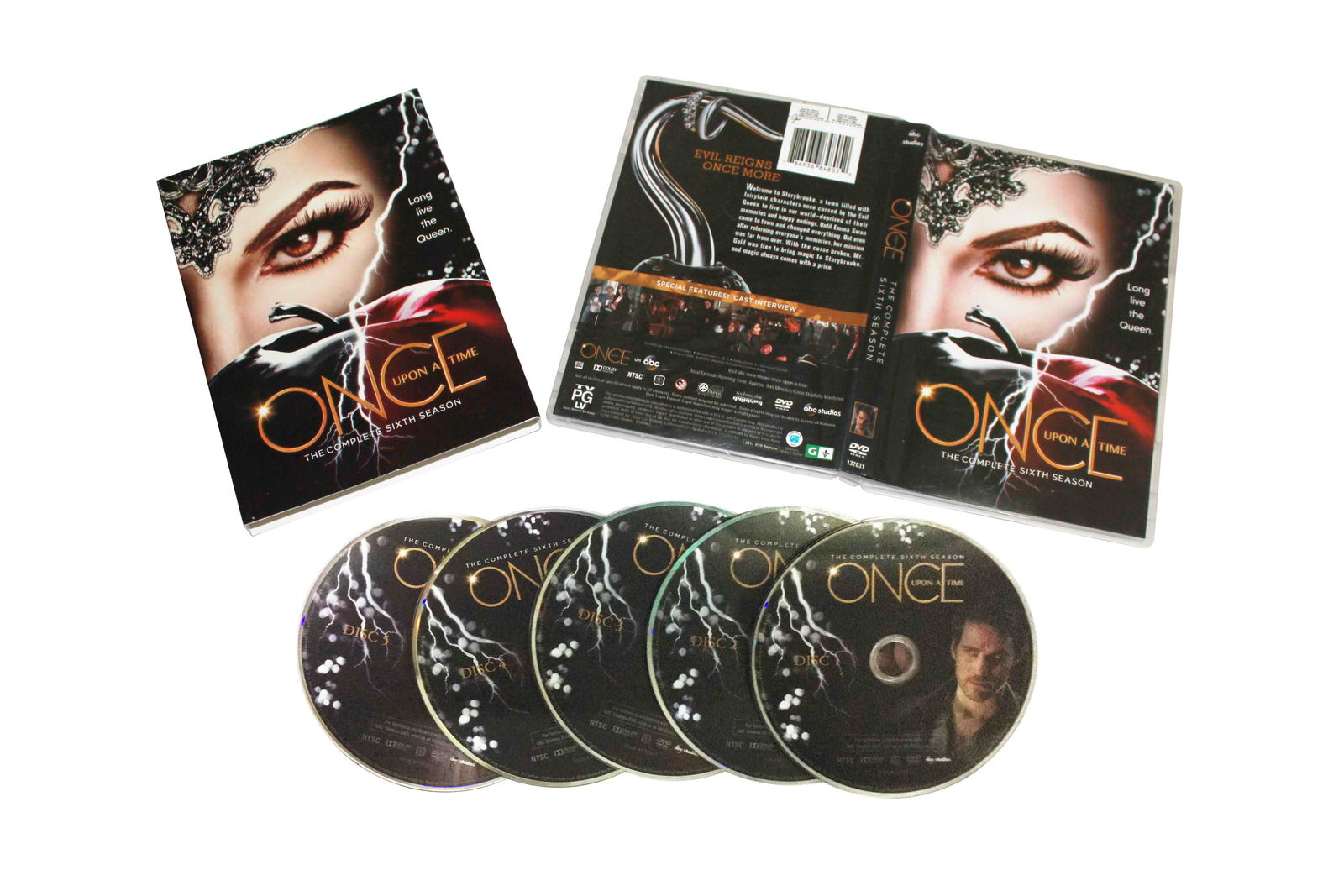 Once upon a time The Complete Sixth Season 6 Box set 5 DVD Free Shipping New
