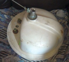 Used White Porcelain Round Bathroom Bowl Basin/Sink Made in USA - $44.55