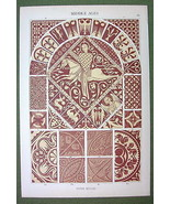 ROMANESQUE Stone Mosaics England France Germany... - $19.75