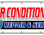 "48""x120"" AC REPAIR & SERVICE BANNER SIGN hvac air conditioning estimates finance"