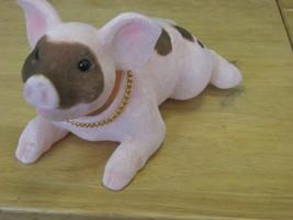 PINK PIGGY VELVET ORNAMENT - $9.49