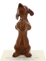 Hagen-Renaker Miniature Ceramic Dog Figurine Dachshund Pedigree Pup Begging image 4