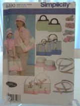 Simplicity 4490 Teresa Nordstrom Misses & Childs Bags, Hats & Access Dtd 2005 - $7.99