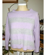 Apt. 9 100% Cashmere Sweater Purple and Gray St... - $34.97