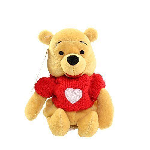 Disney mini Bean Bag Pooh w/Red Sweater Plush - $5.50