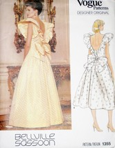 Vogue Designer Pattern 1355 SZ 12 Ball Prom Eve... - $12.99