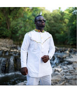 Men Long Sleeve Shirt and Trousers Men African Clothing African Clothing... - $85.00