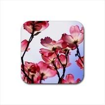Pink Magnolia Flowers Non-Slip Coaster Set - $6.74