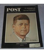 Saturday Evening Post December 1963 Norman Rockwell cover John Kennedy - $7.95
