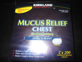 Mucus Relief Chest Expectorant 2 x 200 Immediate-Release Tablets - $15.93