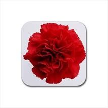 Red Carnation Flower Non-Slip Coaster Set - $6.74