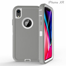 NEW Defender Case For Apple iPhoneXR Shockproof Without Otterbox Clip GR... - $9.89