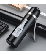 Travel Portable Stainless Steel Vacuum Flask Thermos Coffee print Water... - $24.99