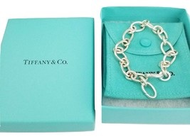 "*  Tiffany & Co 7.5"" Oval Link Chain Clasping End Bracelet Sterling Silv... - $245.00"